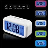 Genuine quiet temperature smart clock LED luminous lazy snooze alarm clock creative electronic calendar bedside clock