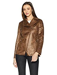 Fort Collins Womens Cotton Jacket (17821 AZ-Black and Brown_XXL)