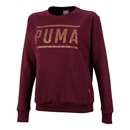 Puma Athletic Crew FL Felpa da Donna Donna 851867 Fig/BronzeMedal M