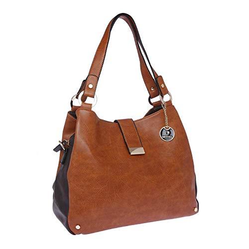 FUR JADEN Women\'s Handbag (Tan,H210_Tan)