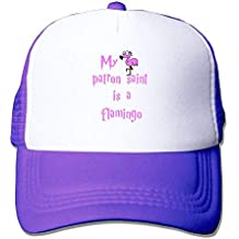 Liumiang Sombreros Gorras de béisbol,Breathable My Patron Saint is A Flamingo Mesh Trucker Caps