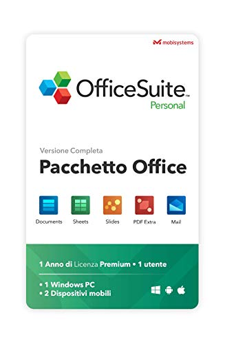 OfficeSuite Personal Compatible with Microsoft Office Word Excel & PowerPoint and Adobe PDF for PC Windows 10 8.1 8 7 - 1-year license, 1 user