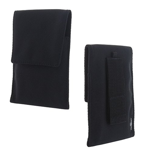 XiRRiX Handy Hülle Etui Tasche 2XL für CAT S40 S41 / Huawei Honor 5X 6X 7X Mate 10 Lite / Motorola Moto G5S / Samsung Galaxy S8+ - schwarz