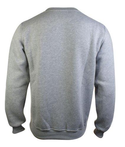 Sweatshirt homme pull gris rouge noir style urbain Gris