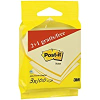 Post-it 6823p Notes–Notas adhesivas (3bloques de 100hojas, 76x 76mm), color amarillo