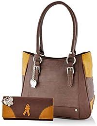 Butterflies Women's Bags (Brown, Combo of 2, BNS WB0222)