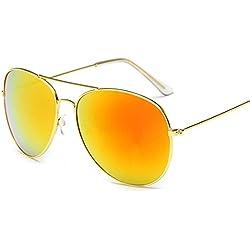 Atdoshop Prämie Voll Mirrored Pilotenbrille Flieger Sonnenbrille UV400 Schutz Optimal Entwurf Herren und Frauen Aviator Sonnenbrillen (H)