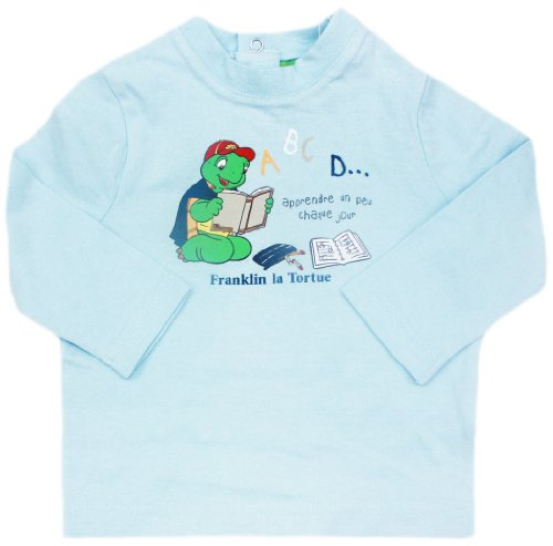 tee-shirt-manches-longues-bebe-franklin-la-tortue-bleu-18mois