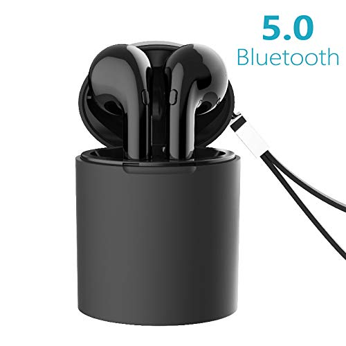 Kabellose Kopfhörer X10, Bluetooth Kopfhörer 5.0 In-Ear Ohrhörer Drahtlose Stereo Ohrhörer schnurlose Headset mit Integriertem Mikrofon Tragbarer Ladecase Kompatibel mit Android iOS -