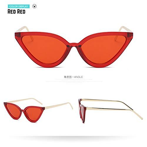 Taiyangcheng Sonnenbrillen Frauen Sonnenbrillen Damen Metall Pc Frame Glasses,Rot rot