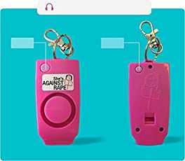 FSI ABS Women Safety Device with Alarm and Whistle Loud Noise of Up to 150dB (Pink)