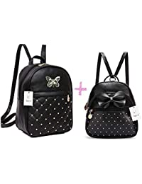 ShopyVid® 2 Set of Combo Girls Cute Backpack | Rakhi Gifts for Sister | bagals for girls stylish | teddy bear bag for girls stylish | callege bags for girls | shcoolbags for girls | rakhi gift for sister kids