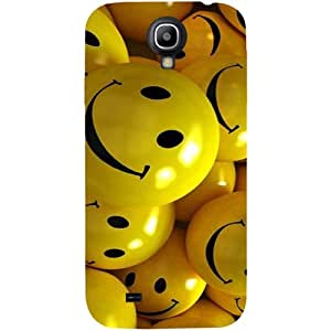 Casotec Smiles Smile Yellow Design Hard Back Case Cover for Samsung Galaxy S4 i9500