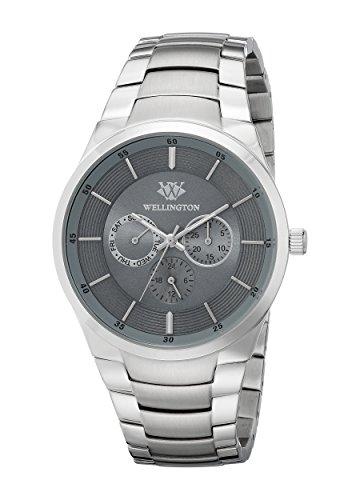 Wellington–Reloj de hombre de cuarzo con Esfera Analógica Gris y Plata Pulsera de acero inoxidable WN601–191