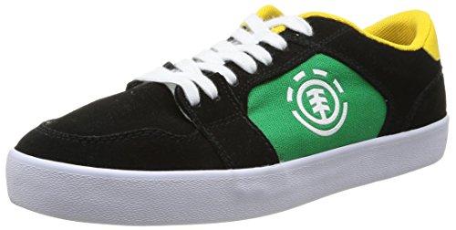 element-heatley-chaussures-de-skateboard-homme-noir-black-green-42-eu