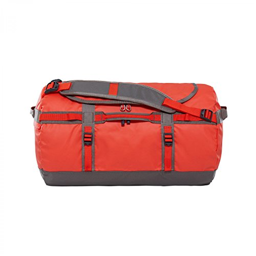 The North Face - Base Camp - Sac de Sport - Mixte Adulte - Multicolore (Acrylic Orange/Falcon Brown) - Taille Small