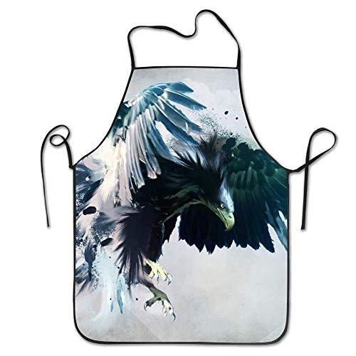 SPHGdiy Angry Eagle with Big and Blue Wings Deluxe Personalized Kitchen - Blue Eagle Wings