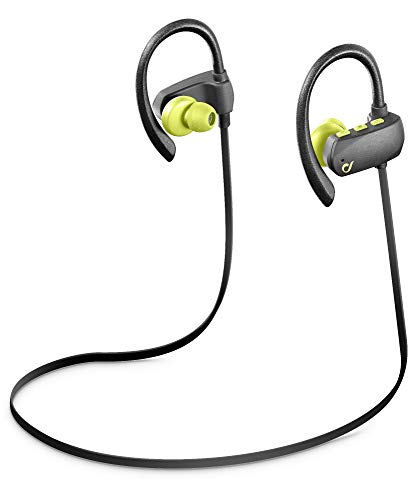 Cellularline Grasshopper Pro Ear-Hook Binaural Wireless Grey, Lime Mobile Headset-Mobile Headsets (Wireless, Ear-Hook, Binaural, intraaural, Grey, Lime) Wireless Binaural Headset