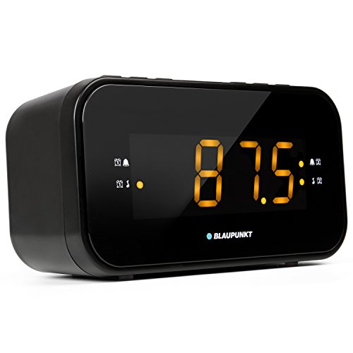Blaupunkt CLR 120 Radiowecker mit UKW PLL Radio, Uhrenradio zum Reisen, Zwei Weckzeiten, große Anzeige und Zahlen, Snooze-Funktion und Sleeptimer, dimmbares Display und Digitale Uhr