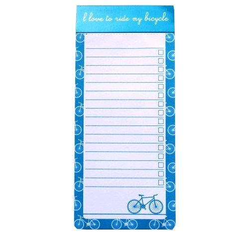ische Notizblock - Fahrrad-Design - Liniert - 100 Blatt pro Block - Größe 230mm x 102mm (Große Magnetische Blätter)