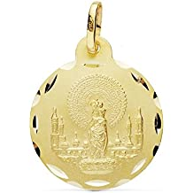 Medalla oro 18k Virgen Pilar 20mm. [AB0770]