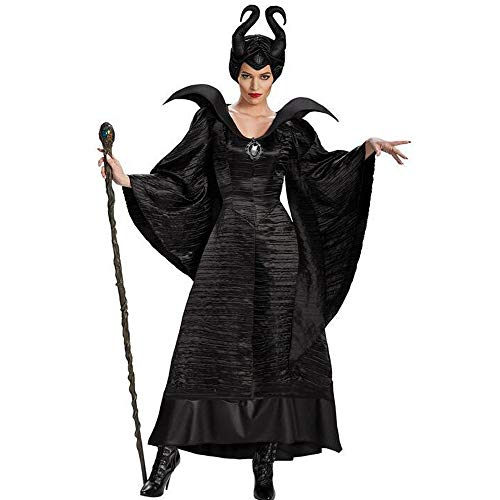 Liu Sensen Frauen Fancy Kleid Tracht Erwachsene Kleid Der Hexe Cosplay Hexe Uniform Halloween Kostümparty Kleid Schwarzen Mantel,XXL - Mermaid Pageant Kleider