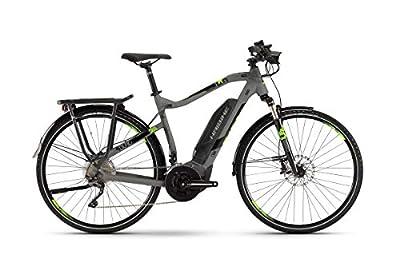 Haibike Sduro Trekking 4.0 Pedelec E-Bike Fahrrad grau/schwarz/grün 2019: Größe: M