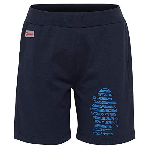 Lego Wear Jungen Lego Boy PLATON 324-SHORTS Shorts, Blau (Dark Navy 590), (Herstellergröße: 134)