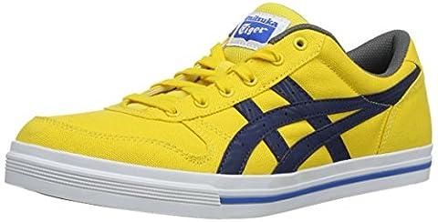 Onistuka Tiger Aaron, Unisex Adults' Basketball Shoes, Yellow (Yellow/Navy 450), 6 UK (40 EU)