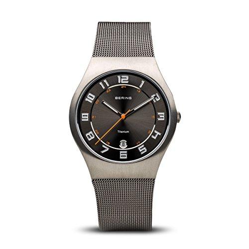 BERING Herren-Armbanduhr Analog Quarz Edelstahl 11937-007