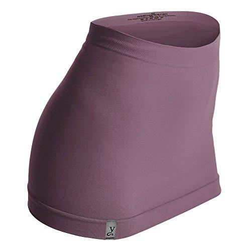 Kidneykaren Nierenwärmer Basic- Tube Multifunktion Yogagurt Fitness & Freizeit Grape (rose) + giftcard, Größe:S