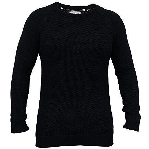 Hommes Câble Pull Tricot Pull Pulls By Brave Soul Marine - 230COLUMBIA