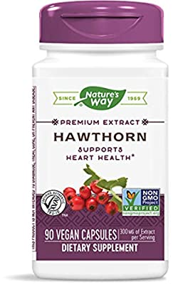 Nature's Way, Hawthorn, Standardized, 90 Capsules from Nature's Way