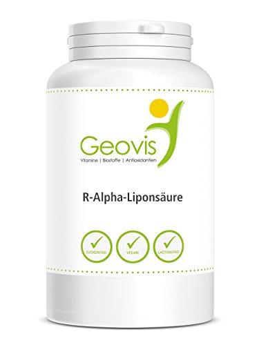 R-Alpha-Liponsäure   ZERTIFIZIERT & LABORGEPRÜFT   120 Kapseln je 300mg R-Alphaliponsäure   in Premium Qualität   hochdosiertes ubiquinol Vegan   Antioxidans u. Zellschutz   Nahrungsergänzung von Geovis