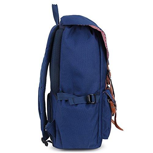 Multipurpose Rucksäcke, Fresion Schultasche mit 2 Seitentaschen Laptop Tasche Reise Rucksack Damen Herren Trekkingrucksäcke mit Großer Kapazität für 17 Zoll Laptop (Nylon Blau) Nylon Blau
