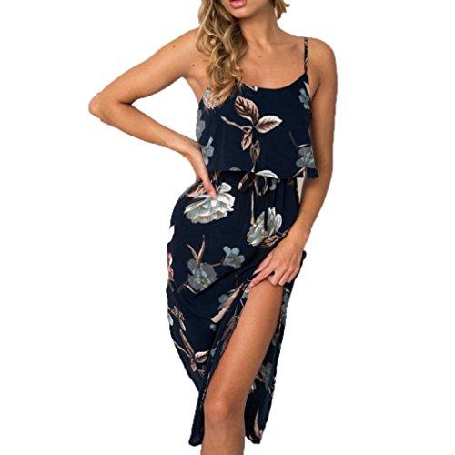 Btruely Damem Kleid Elegant Strand Langes Kleid Frauen Partykleid Bodycon  Abendkleid Strandkleid Sommer Cocktailkleid Ärmellos Sommerkleid Casual  Rückenfrei ... a4eccf3bdc