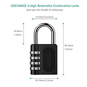 2-Pack-Combination-Lock-GOCHANGE-4-Digit-Code-Travel-Lock-Luggage-Locks-Combination-Locks-Padlock-Best-for-School-Gym-LockerLuggage-Suitcase-Baggage-LocksFiling-CabinetsToolboxCase