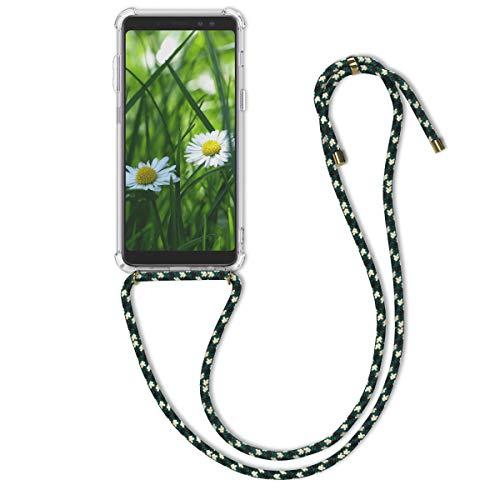 kwmobile Samsung Galaxy A8 (2018) Hülle - mit Kordel zum Umhängen - Silikon Handy Schutzhülle für Samsung Galaxy A8 (2018)