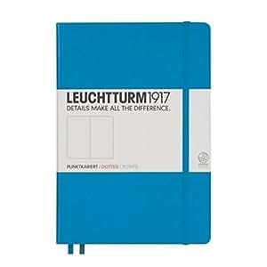 LEUCHTTURM1917 346695 Notebook Medium (A5), 249 numbered pages, dotted, azure