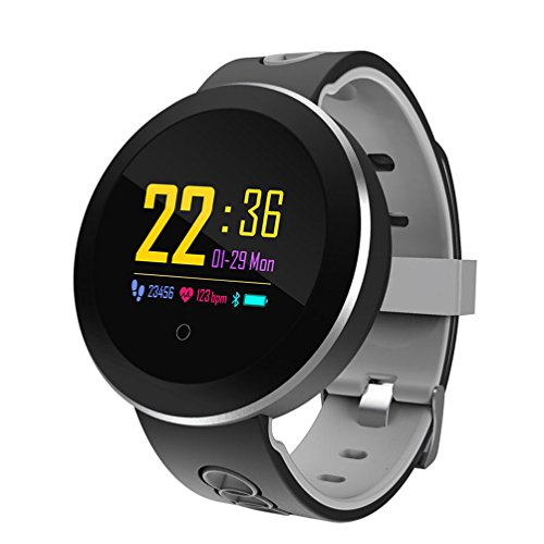 Price comparison product image Fitness Tracker Smart Bracelet Q8 Pro Color Display Heart Rate Monitor IP68 Waterproof Touch Screen Bluetooth Pedometer Wristband Sleep Monitor Support Multiple Languages Suitable For Women Men Android And IOS, Black