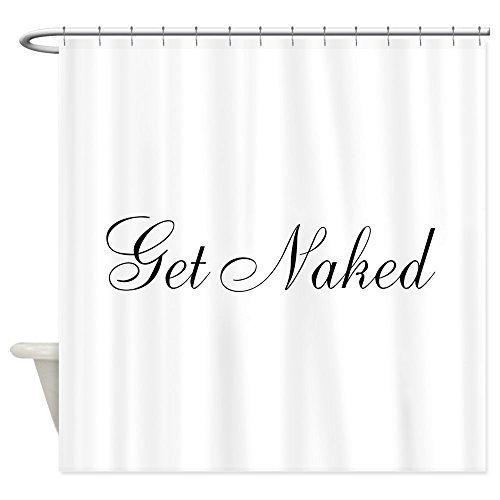 Duschvorhänge, Cafe Press (Duschvorhang Company CafePress Dusche Vorhang–Get Naked schwarz Script Vorhang für die Dusche, weiß)