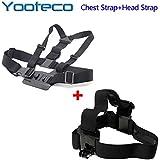 YOOTECO For GoPro Accessories Chest Harness Mount Head Belt Strap For SJCAM SJ4000 SJ5000 M10 GoPro HD 4 3+ 3 Xiao Mi Yi Sport Camera