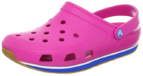 Crocs Retro, Sabots mixte enfant Rose (Fuchsia/Sea Blue)
