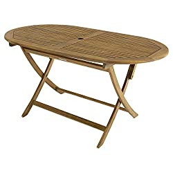 Charles Bentley Garden Wooden Furniture Oval Table