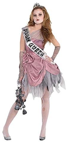 erdbeerloft - Mädchen Karneval Halloween Kostüm Zom Queen, Mehrfarbig, Größe 152-164, 12-14 Jahre
