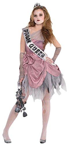 Halloweenia - Mädchen Karneval Halloween Kostüm Zom Queen, Mehrfarbig, Größe 152-164, 12-14 Jahre (Abraham The Walking Dead Kostüm)