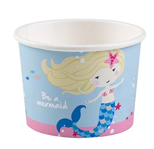Amscan 9903036 Eisschalen Be a Mermaid, Mehrfarbig, 270 ml