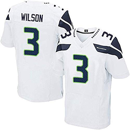 Men Rugby Jersey Football Clothing- Seattle Seahawks 3# Wilson aillots - Mens Rugby Fan T-Shirts Print Top Short Sleeve for Men