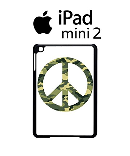 Army Pattern Paece Sign Cool Funny Hipster Swag iPad Case Back Cover Hülle Weiß Schwarz Mini 2 Tablet White