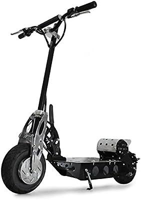 Takira V12 patinete eléctrico (500 W, 38 km/h, potente batería, plegable, frenos larga duración, estribo antideslizante, manillar ajustable, ruedas amortiguadoras) - negro